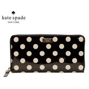 Kate Spade Patent Leather Polka Dot Wallet